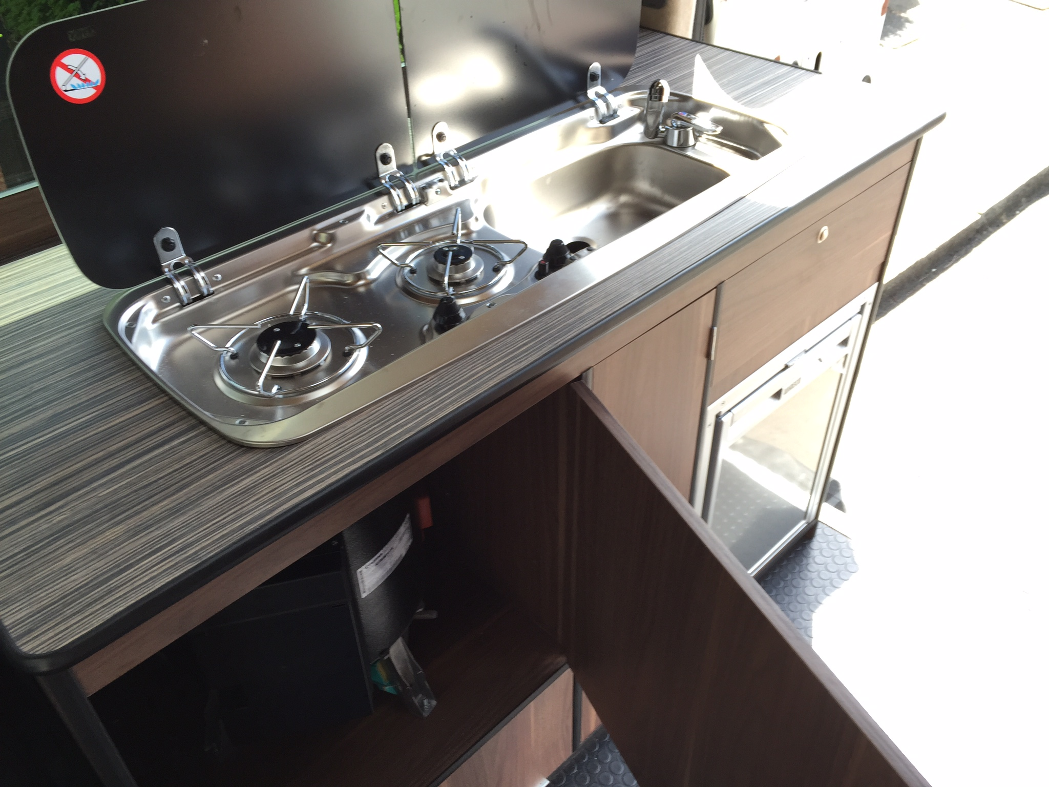 Hob/sink and boiler