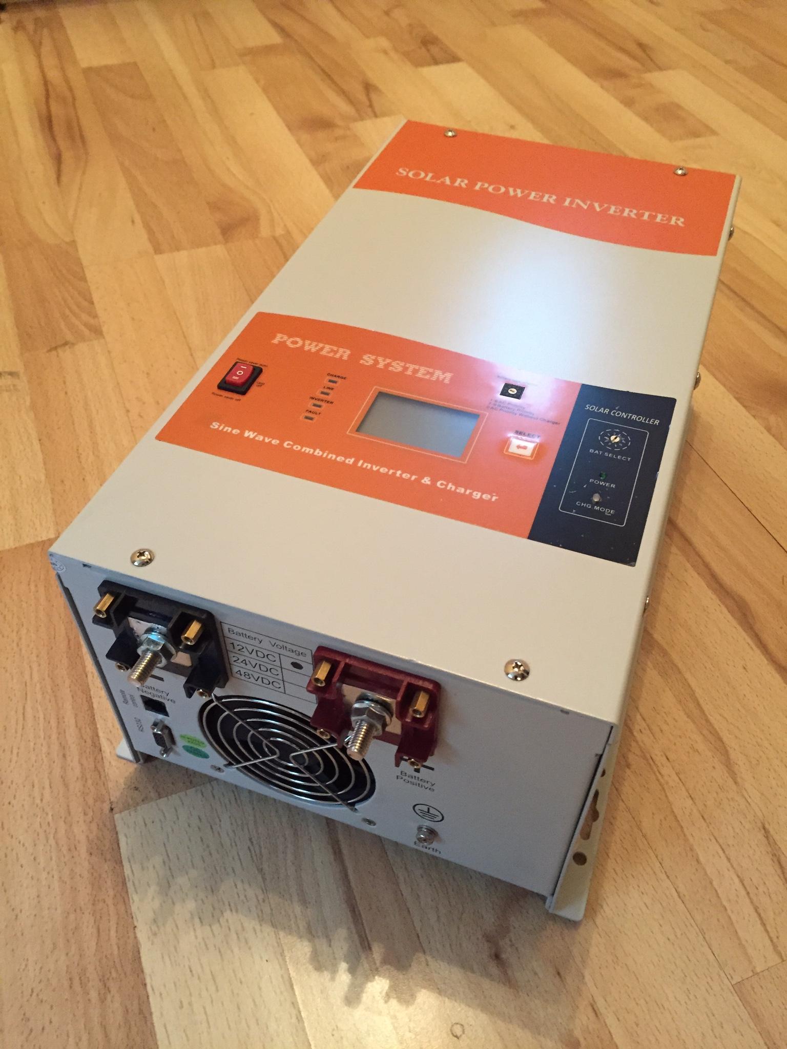 Vw Crafter Van Conversion 12vdc And 230vac Electrics Main Electrical Fuse Box Ebay Santak Ipv 2012c Inverter Charger Mppt
