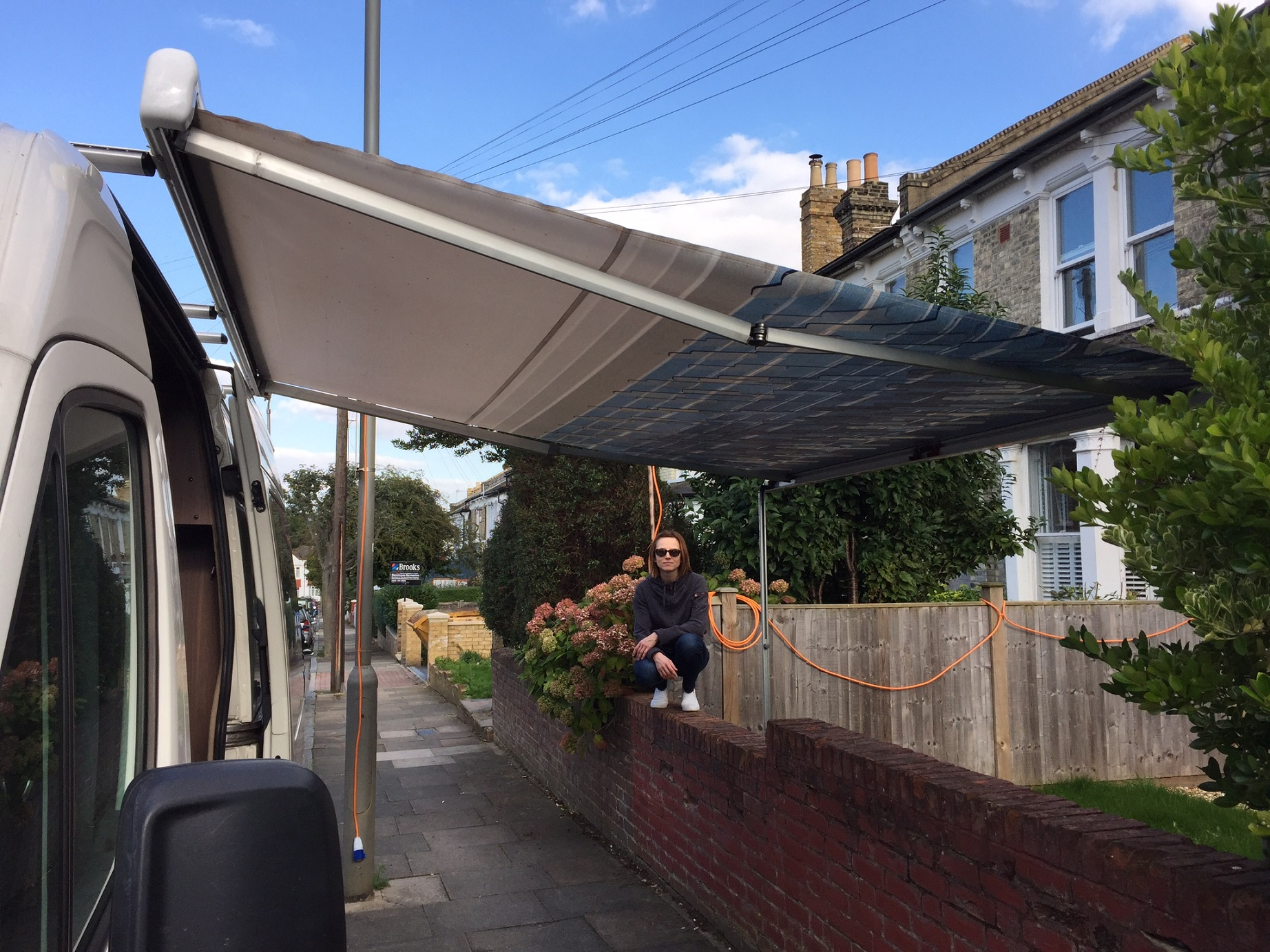 VW Crafter Van Conversion Roof Bars Box And Awning