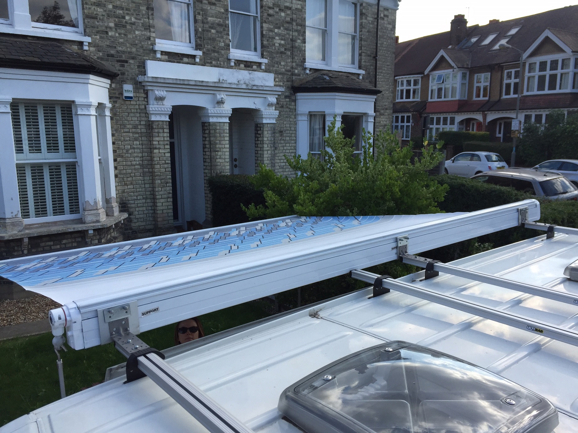 Wound out awning top